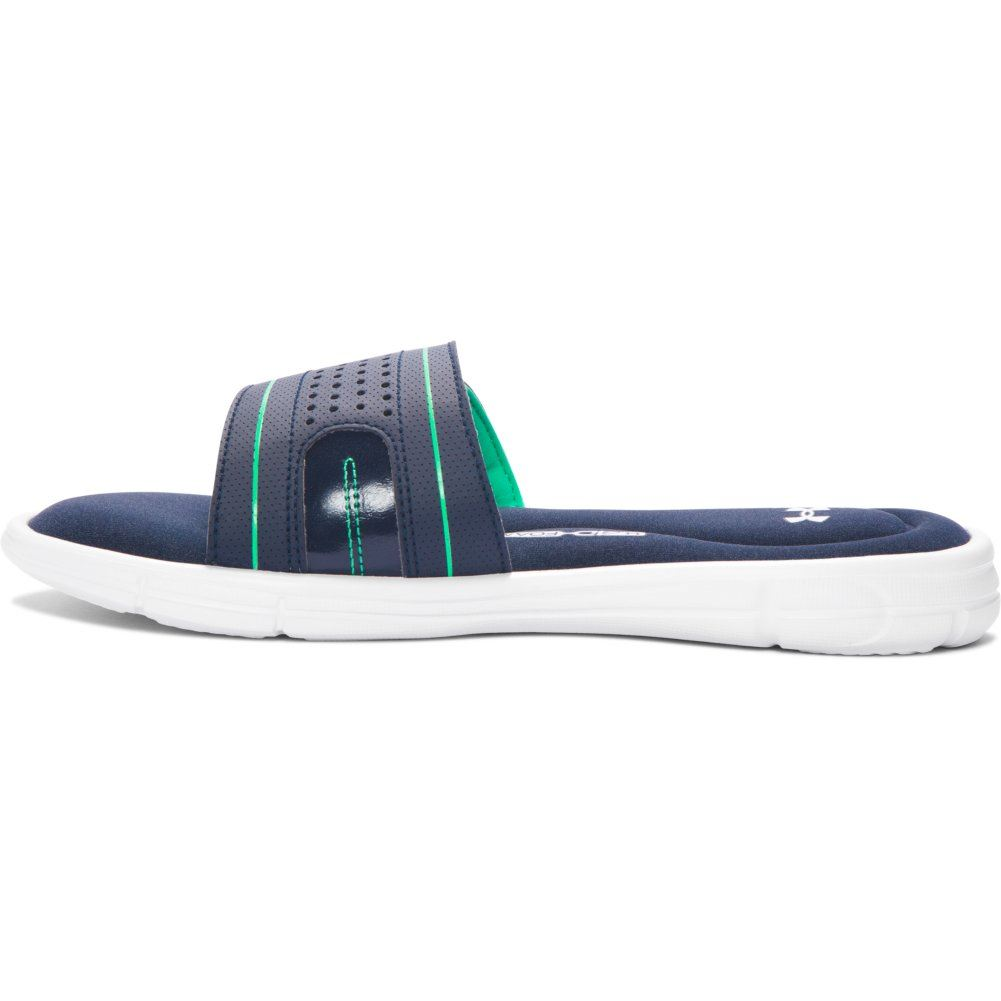 Under Armour Women's UA Ignite VIII Slide Sandals 11 Blue Drift/vapor Green/ white. About this product. Almost gone. Picture 1 of 6; Picture 2 of 6;  Picture ...