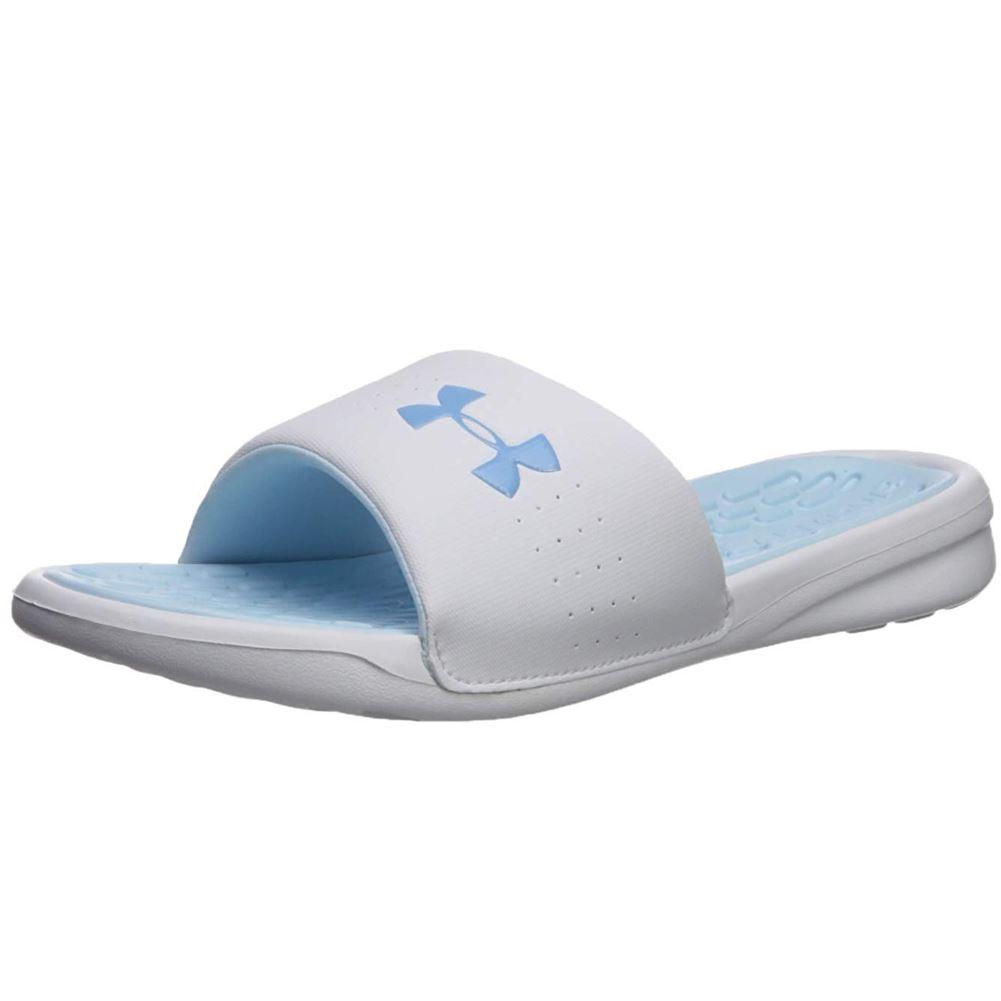 cbe56601ac4cc9 Under-Armour-Women-s-Playmaker-Fix-Slide-Sandals thumbnail