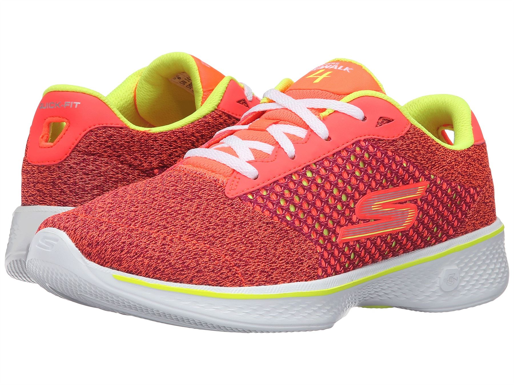 Skechers Gowalk 4 Exceed Sneaker Pink/Lime - Womens Shoes