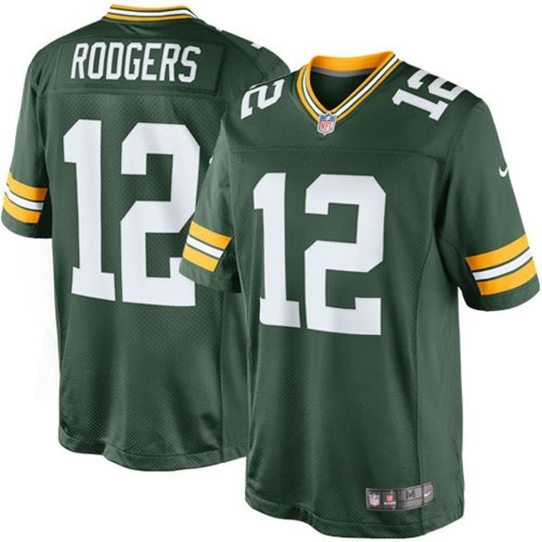 Nike NFL Men s  12 Aaron Rodgers Green Bay Packers Limited Jersey  7220c780f