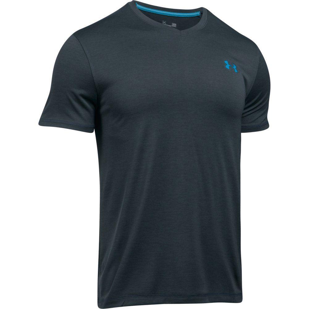 Under armour men 39 s ua tech v neck t shirt ebay for Under armour t shirts mens