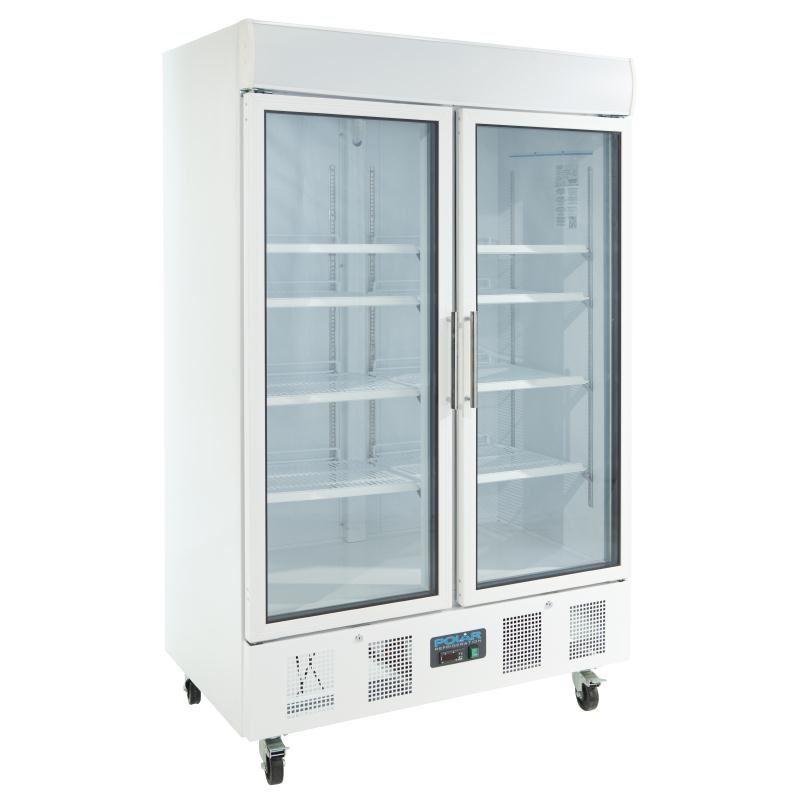 Restaurant Kitchen Fridge polar double door display fridge 944 litre commercial restaurant