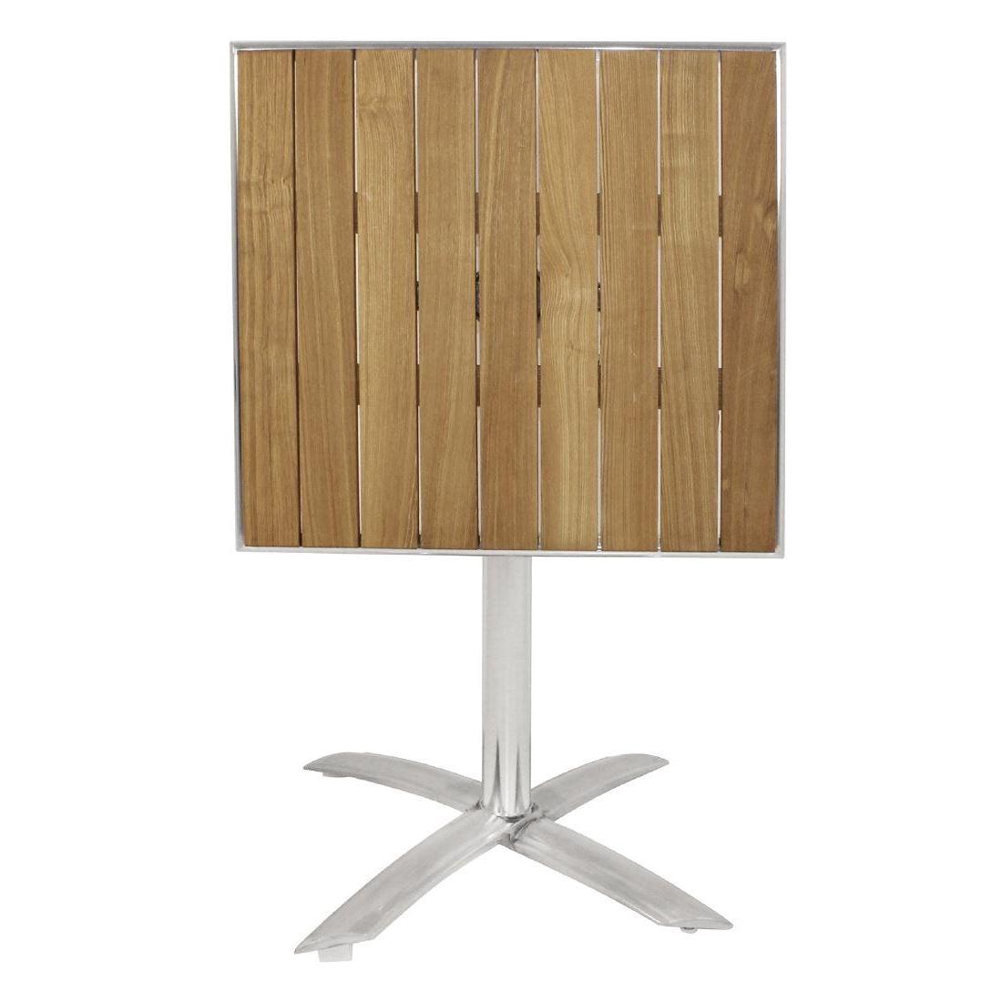 ... Bolero Flip Top Bistro Table Square Wood Dining Chairs Patio Bar  Restaurant