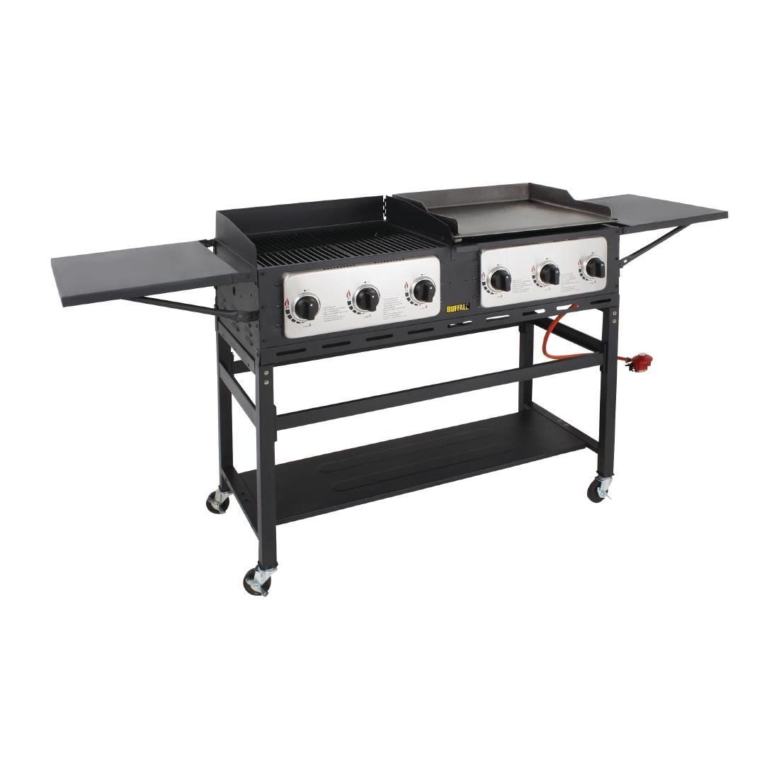 Buffalo BBQ Grill and Griddle Made of Stainless Steel /& Steel 17.5kW