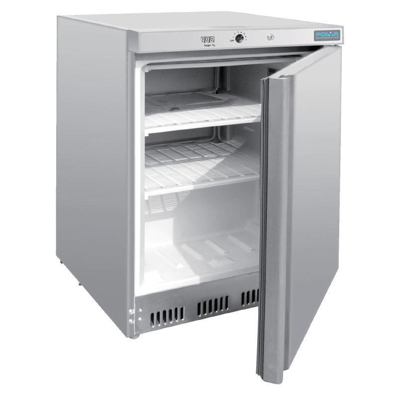 Polar Under Counter Freezer Stainless Steel 140 L