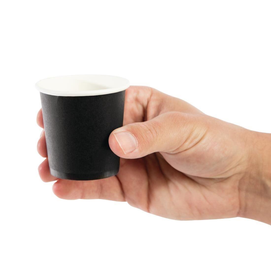 Paper Cups Coffee To Go Espresso 120ml 4oz black