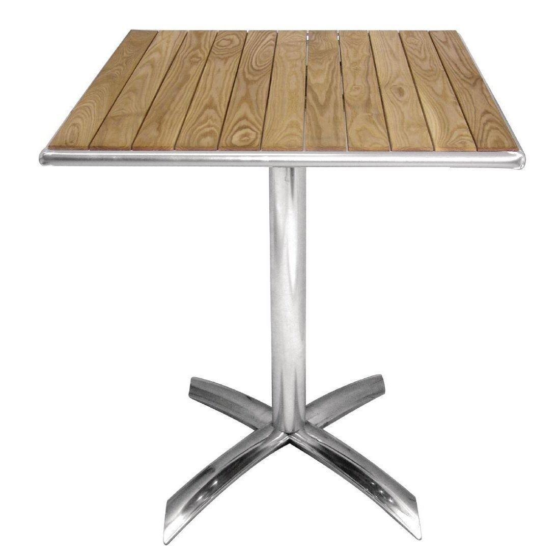 Bolero Ash Flip Top Square Bistro Table Wood Outdoor Dining - Square wood outdoor dining table
