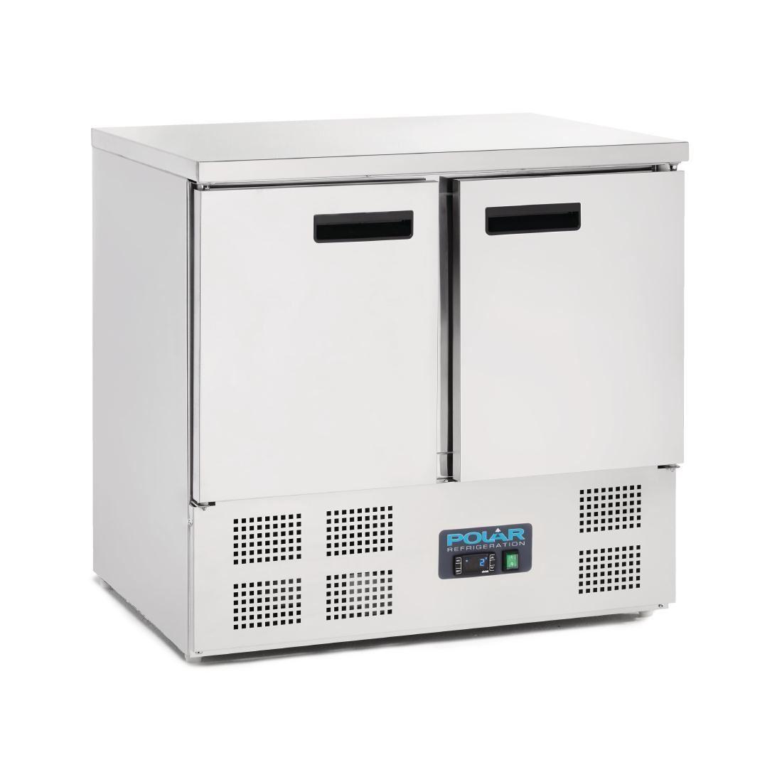 Polar 2 Door Compact Counter Fridge 240 Litre Commercial Kitchen  Refrigerator ...