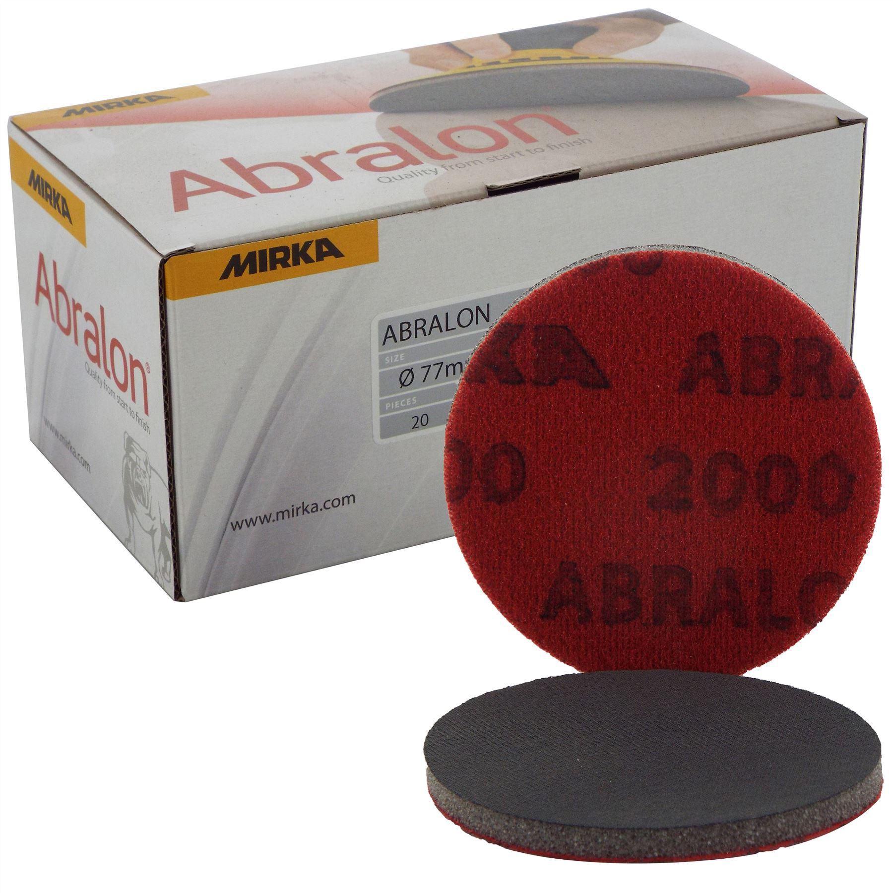 "All Grits Pack Of 2 Discs Mirka Abralon Abrasive Discs 150mm 6/"""