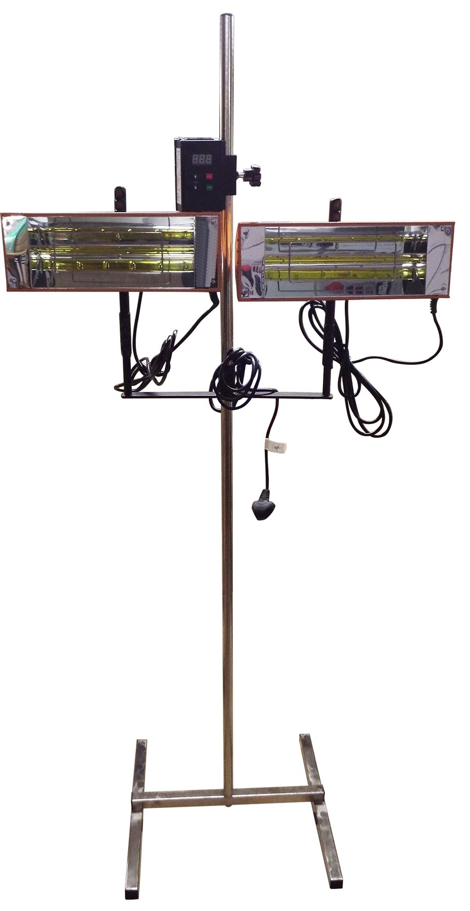 Twin 1 0kw Infrared Heater Car Bodywork Repair Paint Dryer Stand Digital Timer Ebay