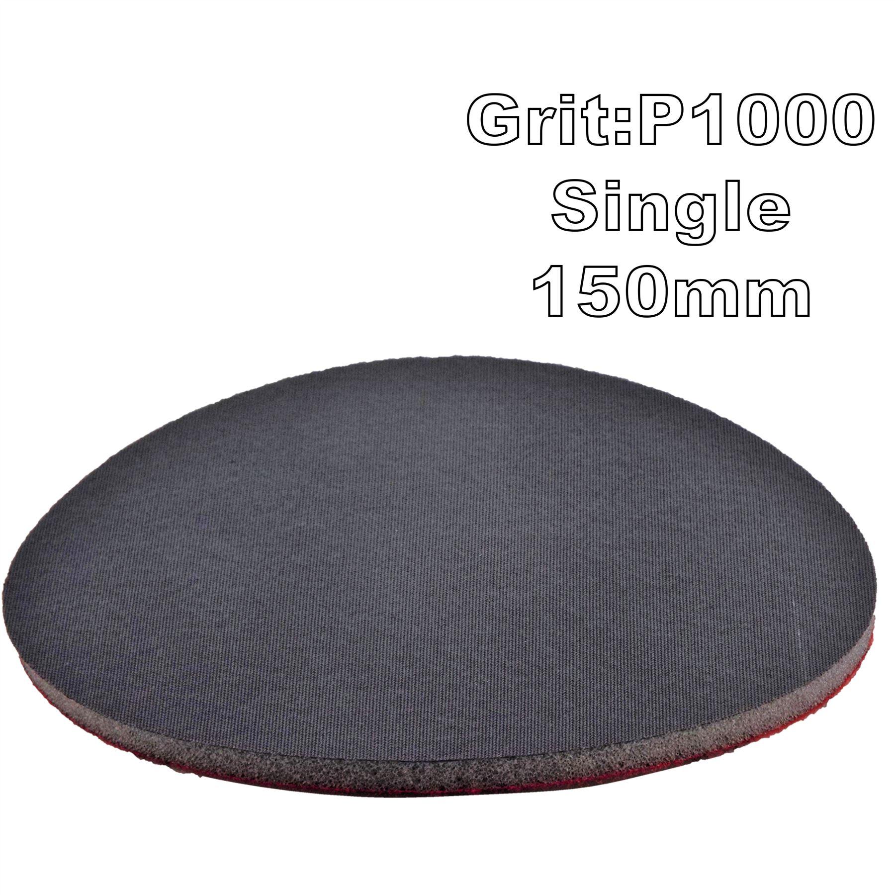 """Mirka Abralon 150mm 6/"""" P1000 Grit 2x HookNLoop Foam Fine Finishing Discs Pad"""