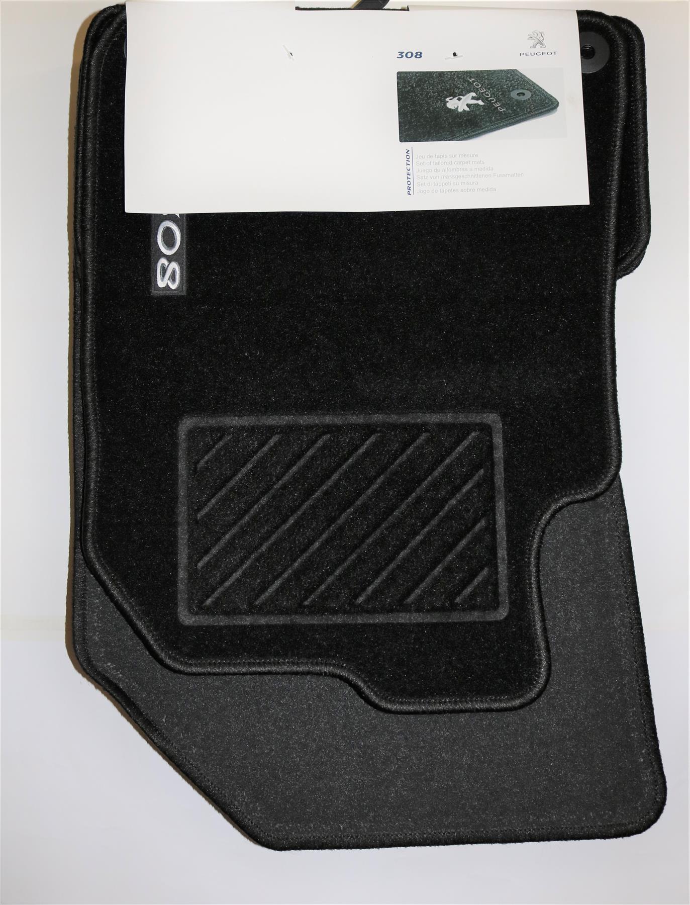 PSA Original Juego de 4 Tapetes Alfombra estándar se ajusta Peugeot 308 160985188 0