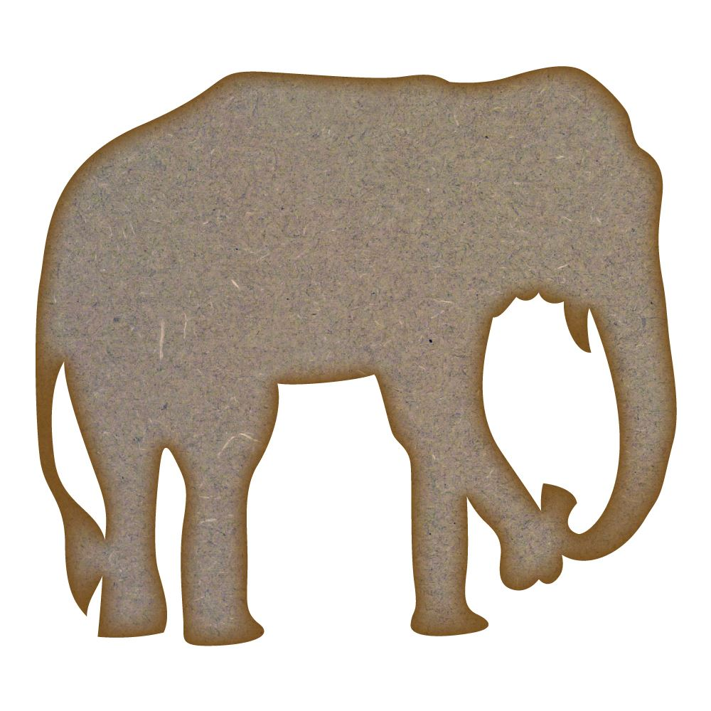 Elephant MDF Laser Cut Craft Blanks in Various Sizes