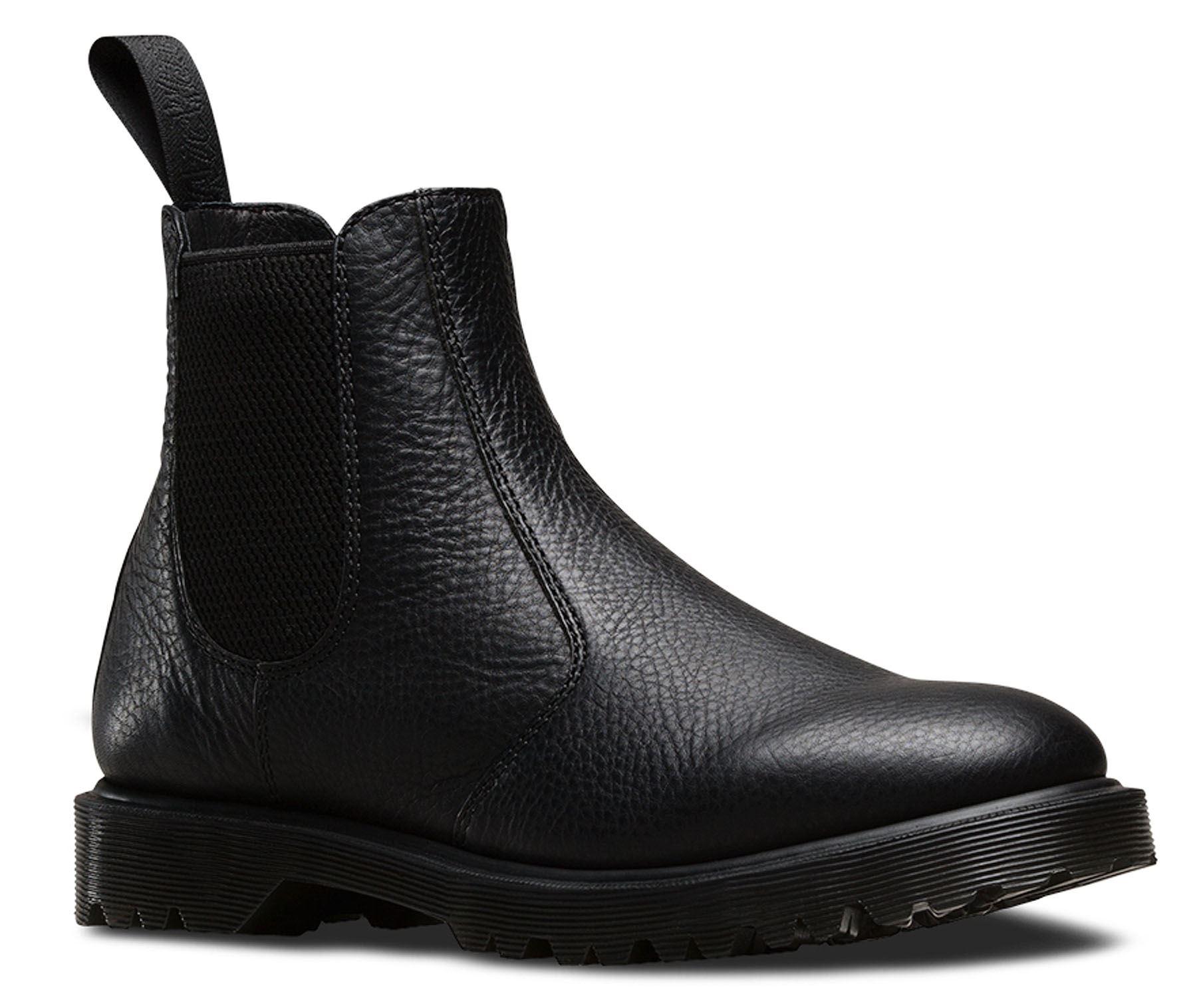 dr martens 2976 mens black inuck grained leather chelsea dealer boots. Black Bedroom Furniture Sets. Home Design Ideas