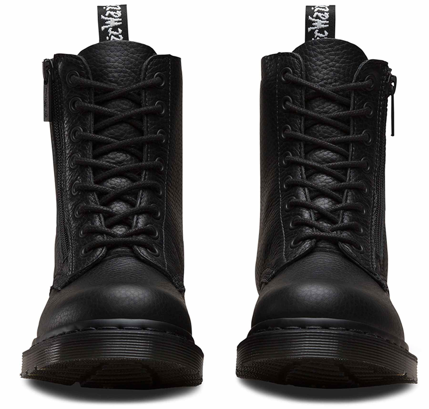Dr Martens Ladies Pascal Pascal Pascal 1460 Aunt Sally Grizzly Leather Zip Leather Ankle Boots 500fd7