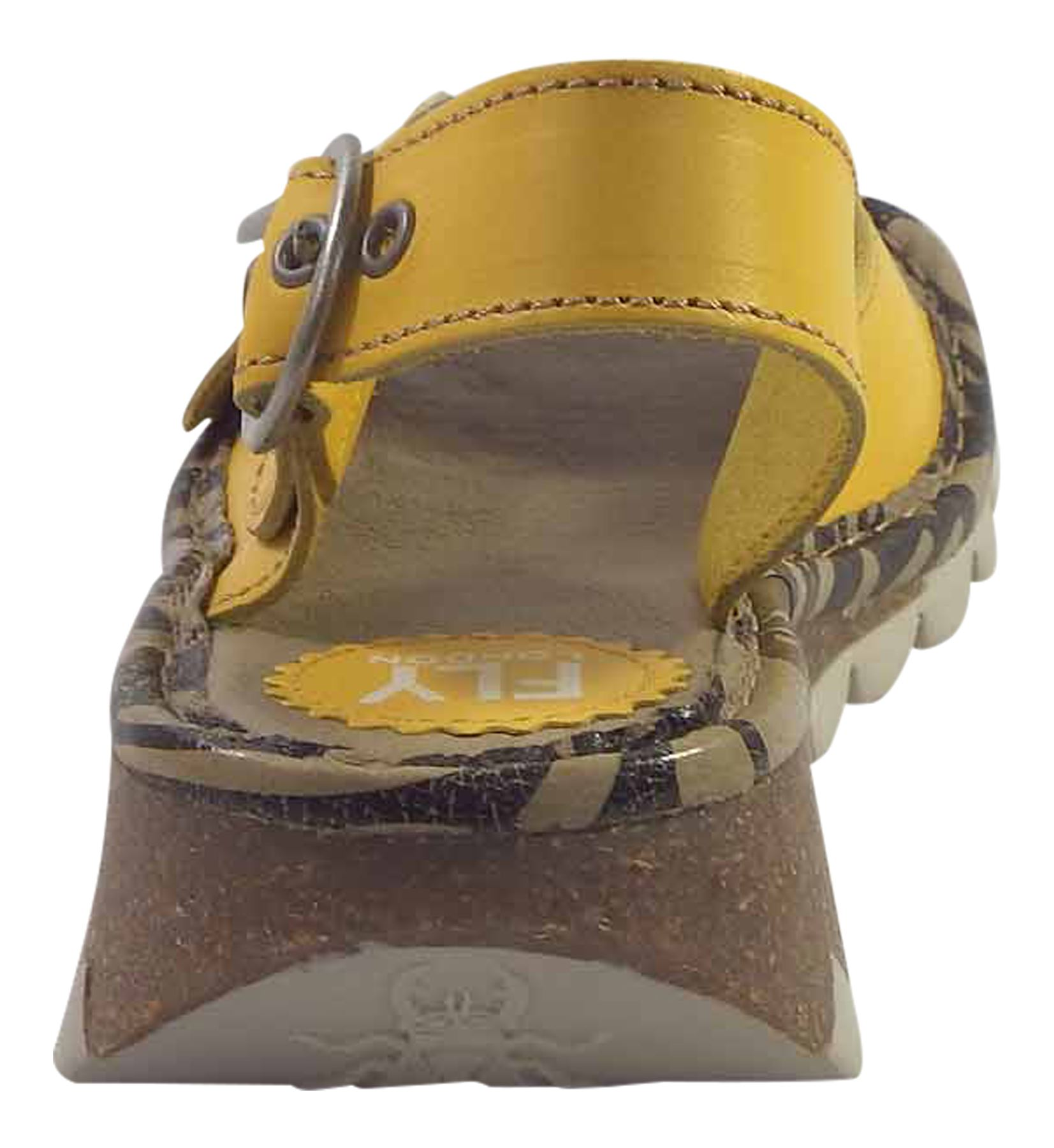 Fly-London-Ladies-TRAM723FLY-Lo-Wedge-Slingback-Summer-Sandals-Leather thumbnail 45