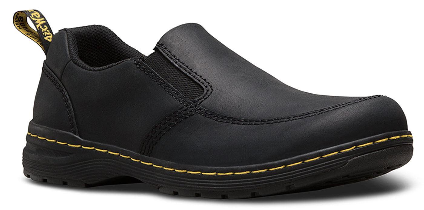 Scarpe casual Nero da uomo  DR Martens Brennan REPUBBLICA Nero casual in Pelle Raccordo Più Ampio Scarpe Leggero 472599