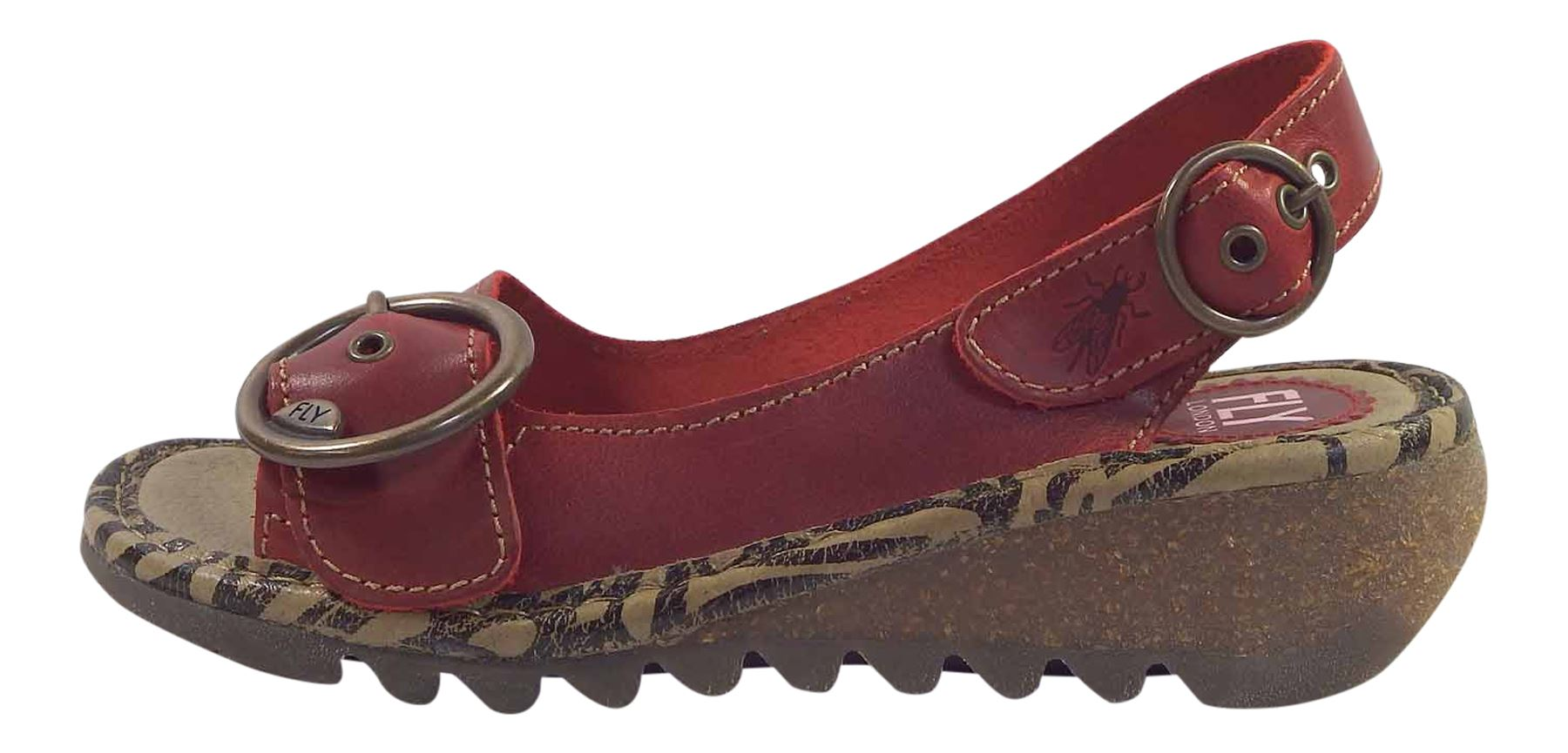 Fly-London-Ladies-TRAM723FLY-Lo-Wedge-Slingback-Summer-Sandals-Leather thumbnail 57