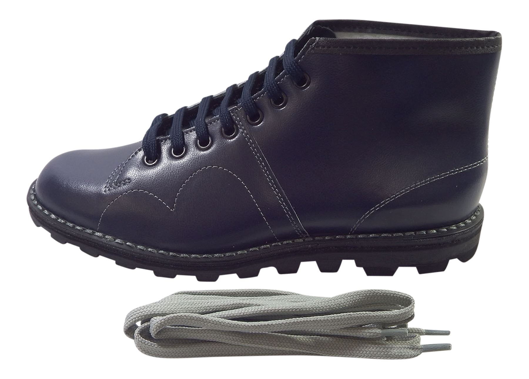 Grafters  Uomo Classic Coated 1980's Retro Monkey Ankle Stiefel Coated Classic Leder 81a885