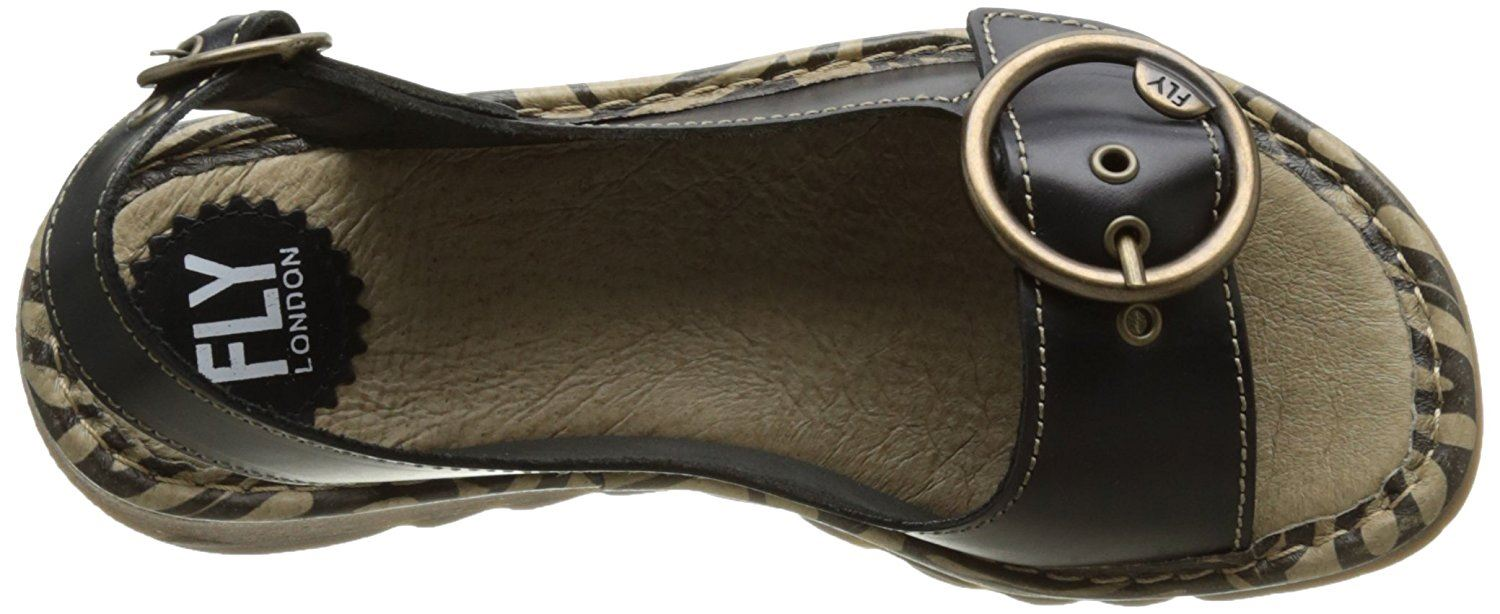 Fly-London-Ladies-TRAM723FLY-Lo-Wedge-Slingback-Summer-Sandals-Leather thumbnail 15