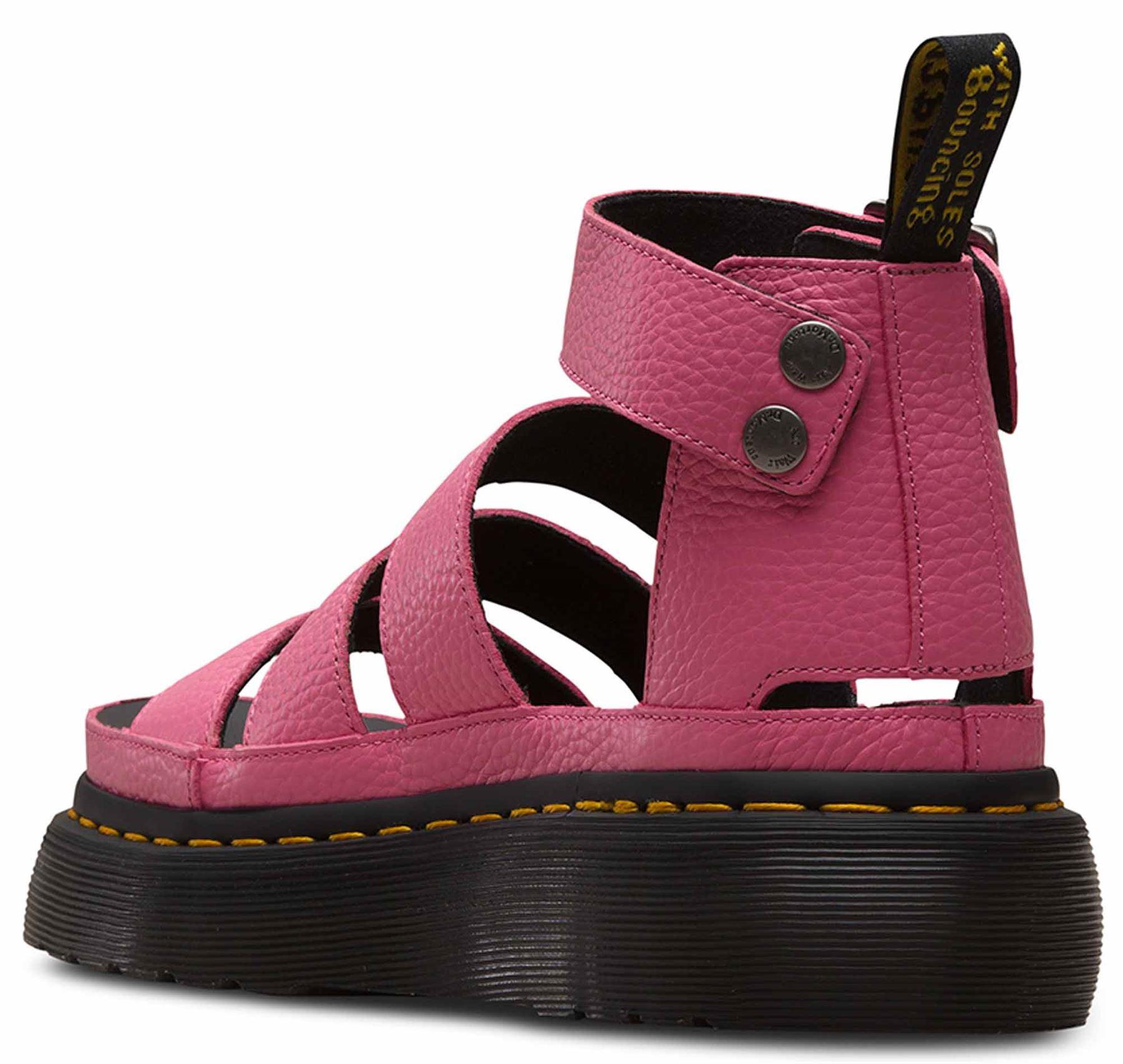 5ee2d7edc5fb Dr Martens Clarissa II Quad Soft Pink Aunt Sally Leather Gladiator ...