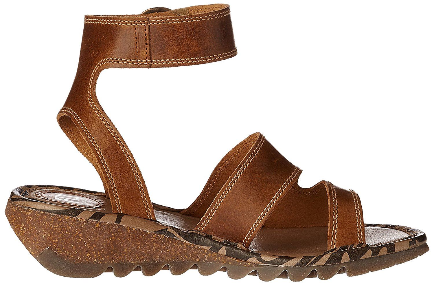 Fly-London-TILY722FLY-Ladies-Strappy-Gladiator-Style-Leather-Wedge-Sandals thumbnail 15