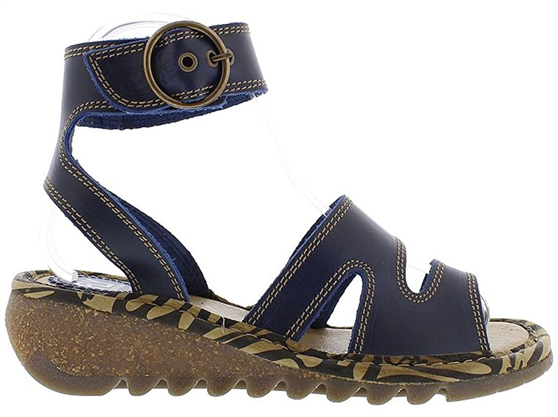 Fly-London-TILY722FLY-Ladies-Strappy-Gladiator-Style-Leather-Wedge-Sandals thumbnail 10