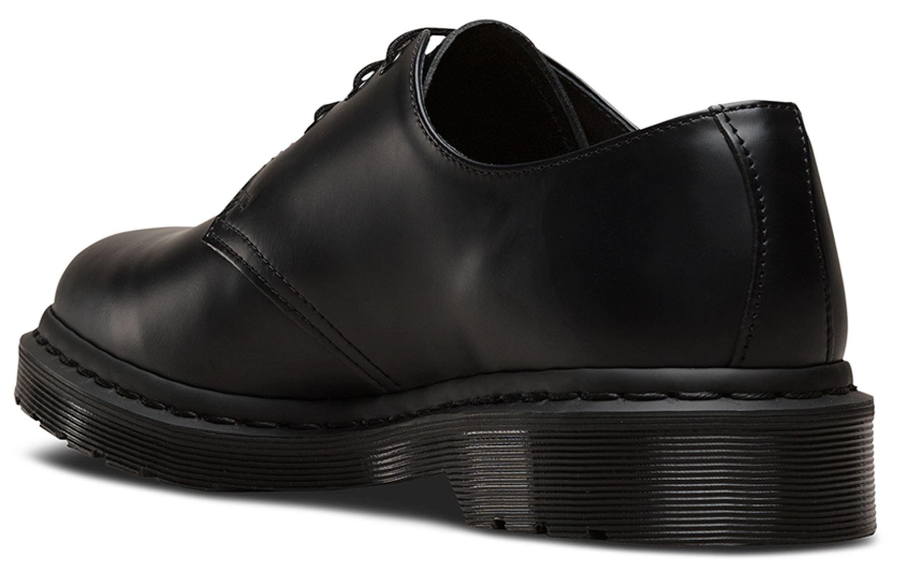 Dr Hombre Martens Hombre Dr 1461 Negro Mono Smooth Leather Zapatos 3587f8