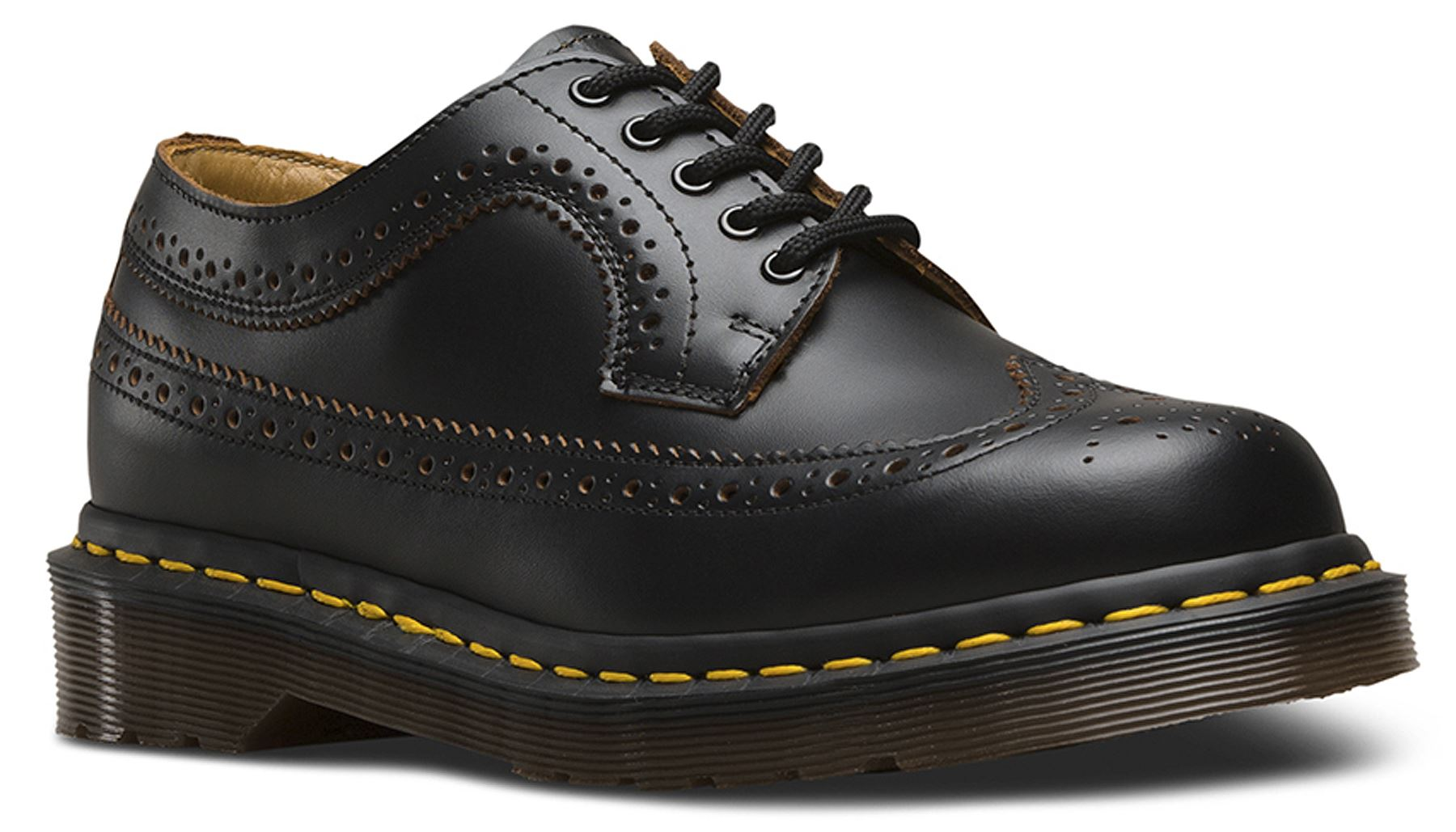 Dr Martens Uomo Made In England 3989 Brogue Leather Premium Quilon Leather Brogue Shoes 64beda