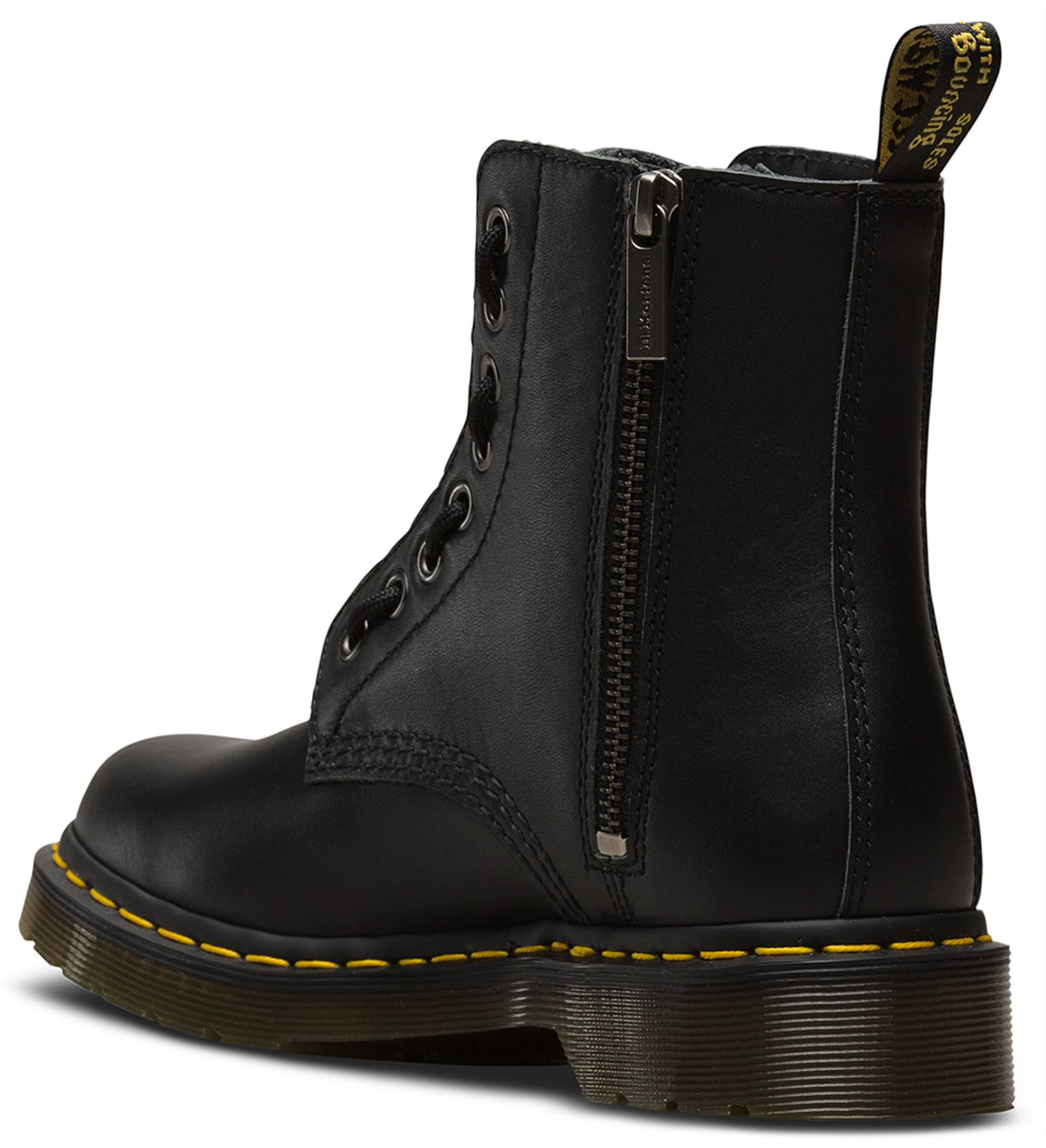 273627f3a22 Dr Martens 1460 PASCAL Front and Side Zip Black Soft Nappa Leather ...