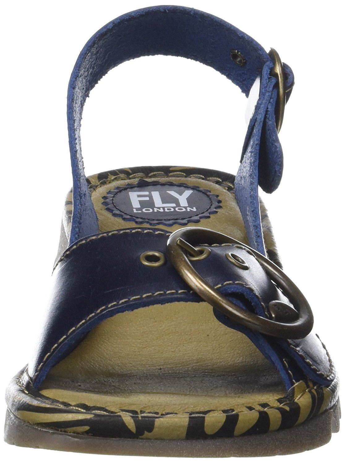 Fly-London-Ladies-TRAM723FLY-Lo-Wedge-Slingback-Summer-Sandals-Leather thumbnail 20