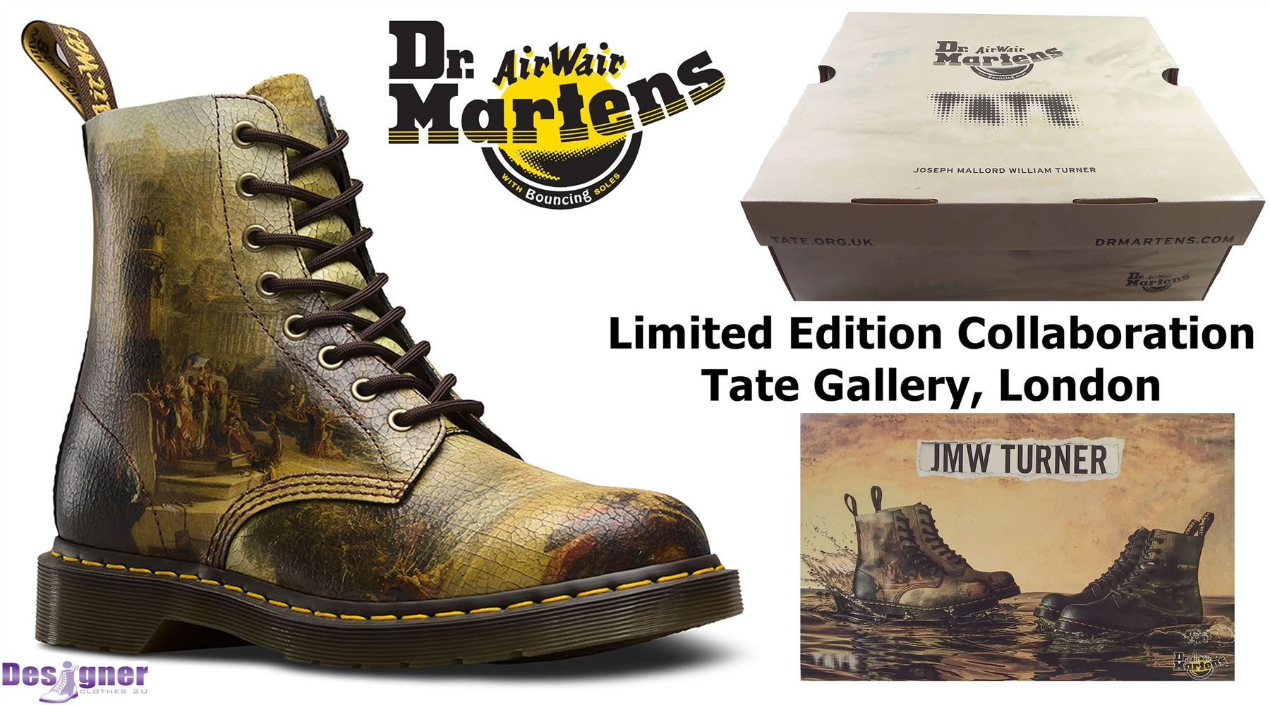 Dr Martens Pascal Tate Gallery Turner Carthaginian Empire Suede Leather Boots