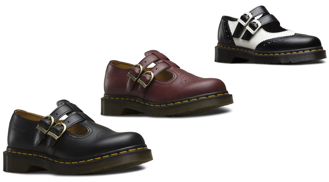e25676c349ed Dr Martens 8065 Mary Jane Twin Buckle Leather Uniform Shoes | eBay