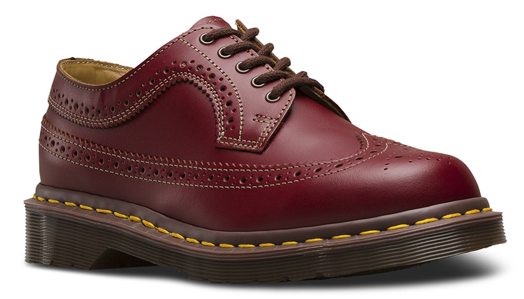 dr martens mens made in england 3989 black quilon leather brogue shoes ebay. Black Bedroom Furniture Sets. Home Design Ideas