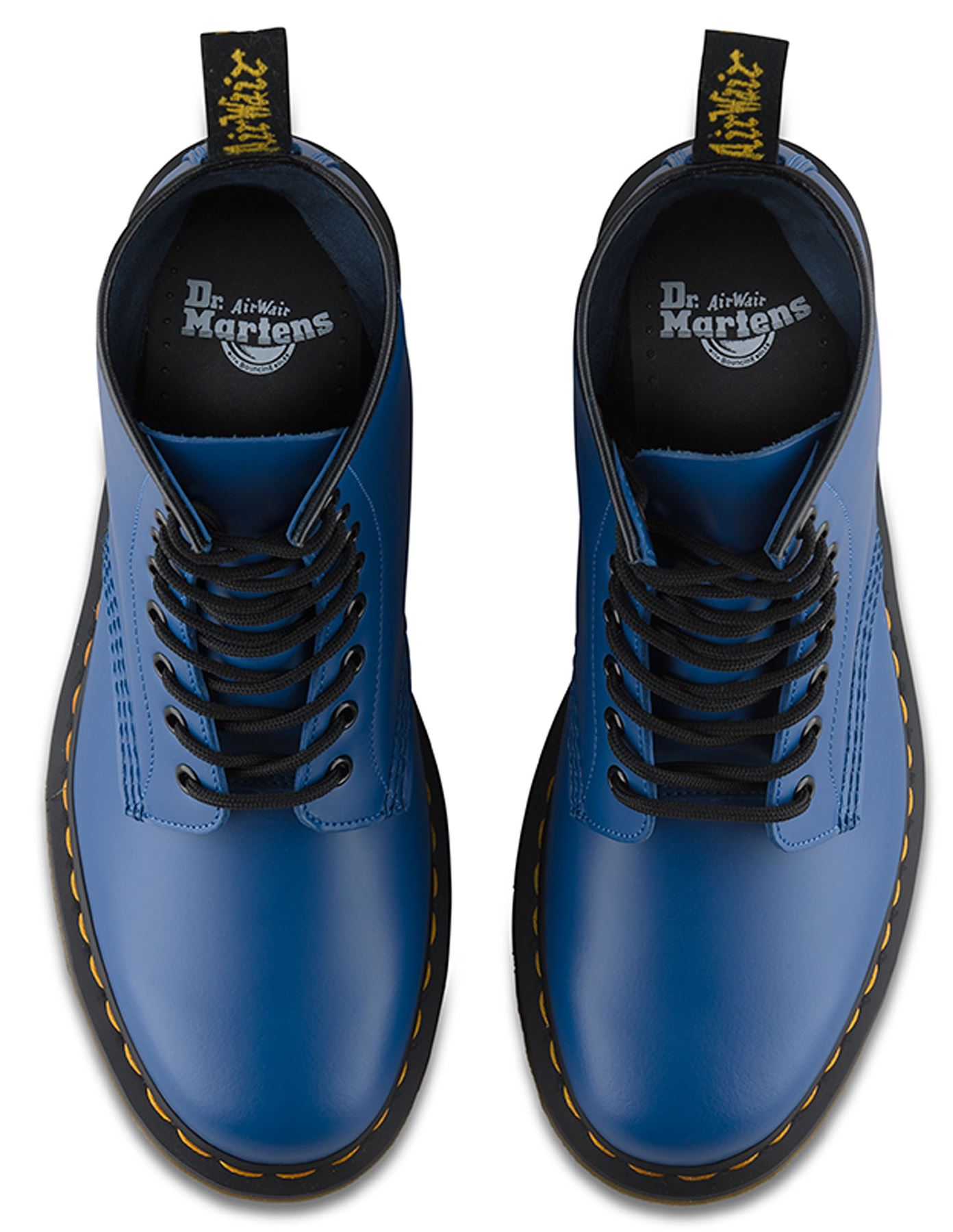 2ba37bc877f Dr Martens Unisex 1460 Blue Smooth Leather Classic 8 Eye Ankle Boots ...