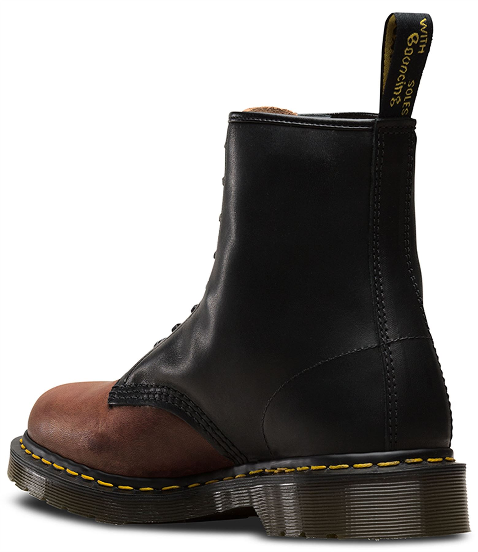53c50852811 Dr Martens Made In England 1460 Black + Mocca Dublin Horween Leather ...