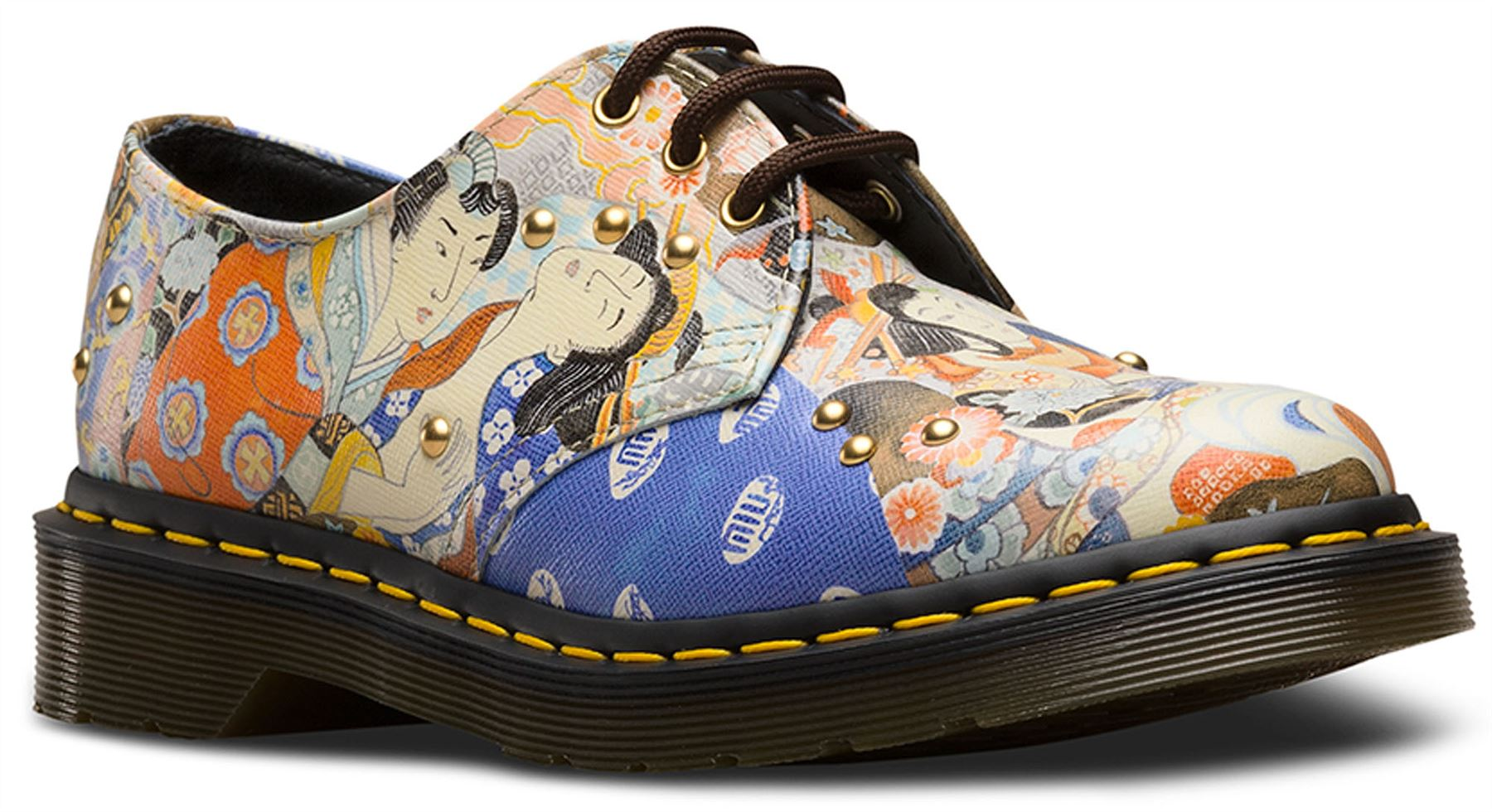Dr-Martens-Ladies-1461-EA-Oriental-Eastern-Art-Multi-Coloured-Leather-Shoes