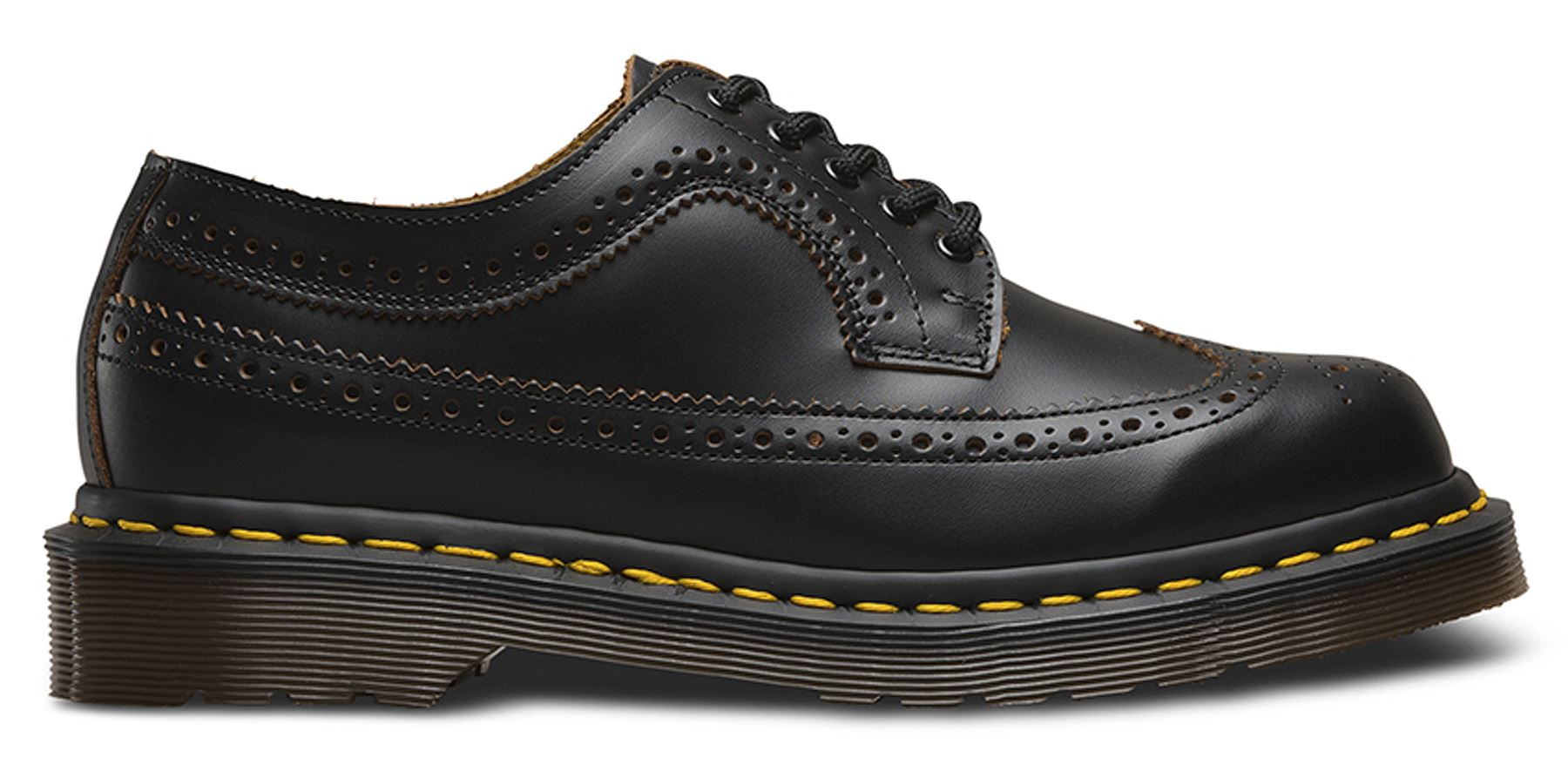 4d94c59d92bab Dr Martens Mens Made In England 3989 Black Quilon Leather Brogue ...