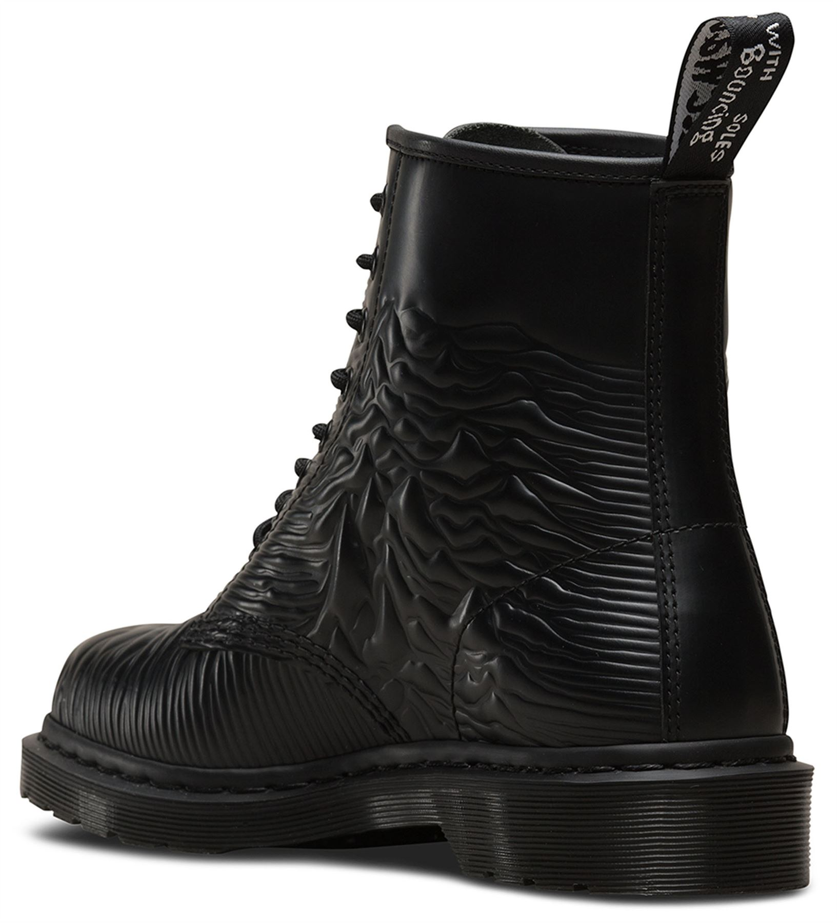 DR Martens Martens Martens 1460 unknown pleasures Joy Division Nero Liscio Stivali in Pelle 1bc5d7