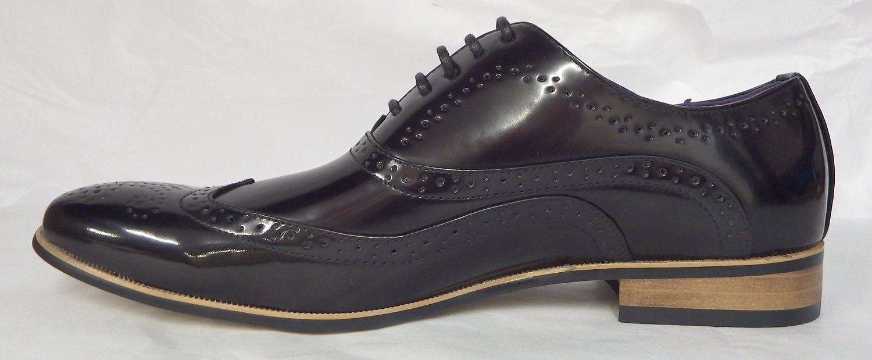 Pu Hommes Chaussures De Brogue Goor Brillant Soir Brevet Formelles Danse Noir Style Du BwpZY