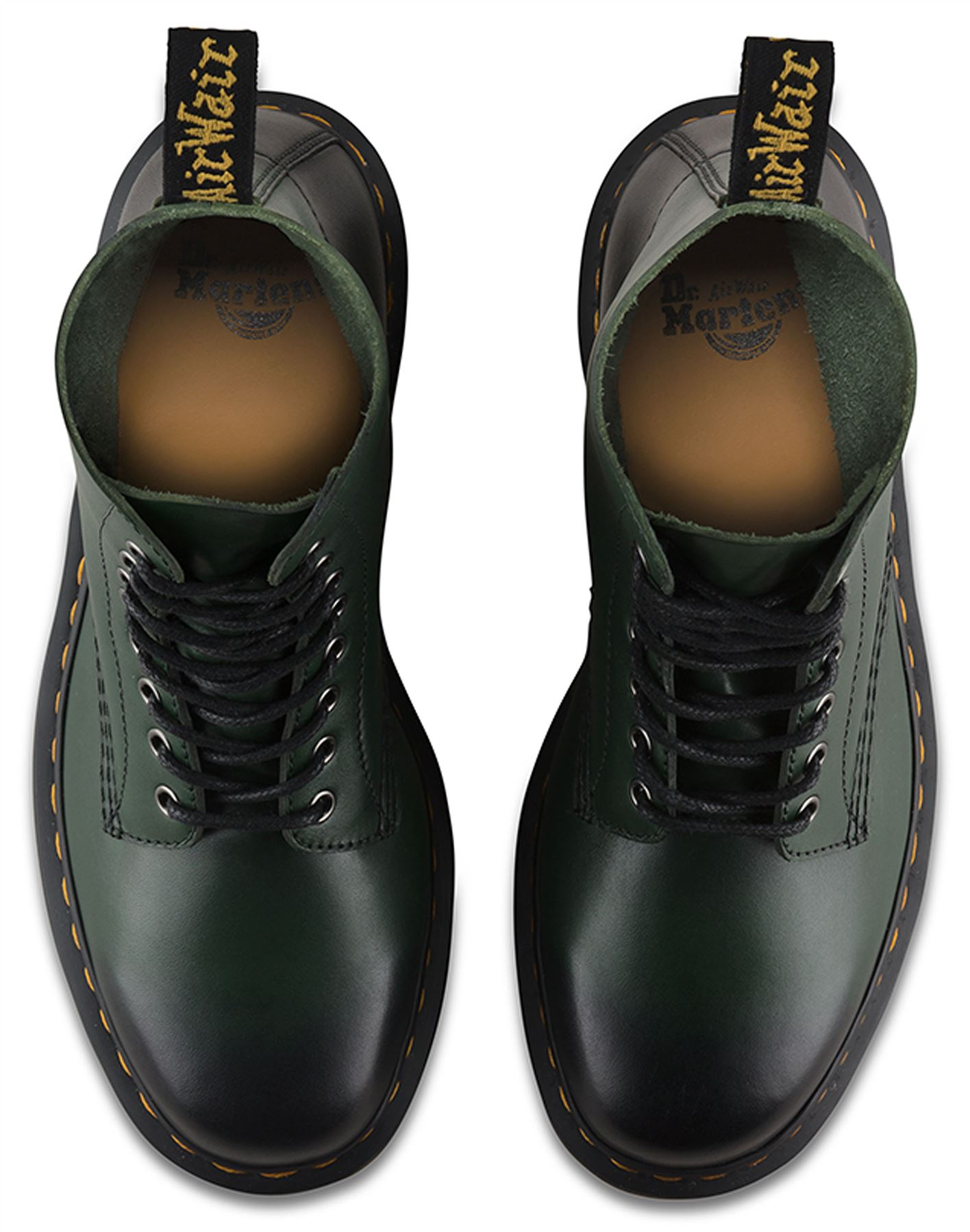 Dr Martens Mens 1460 Pascal Leather Green Temperley Burnished Analine Leather Pascal Boots 60e809