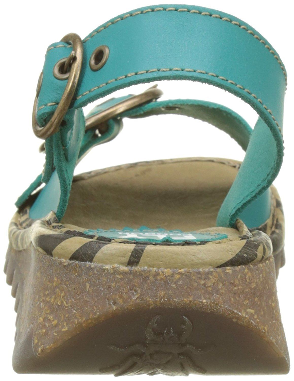 Fly-London-Ladies-TRAM723FLY-Lo-Wedge-Slingback-Summer-Sandals-Leather thumbnail 71