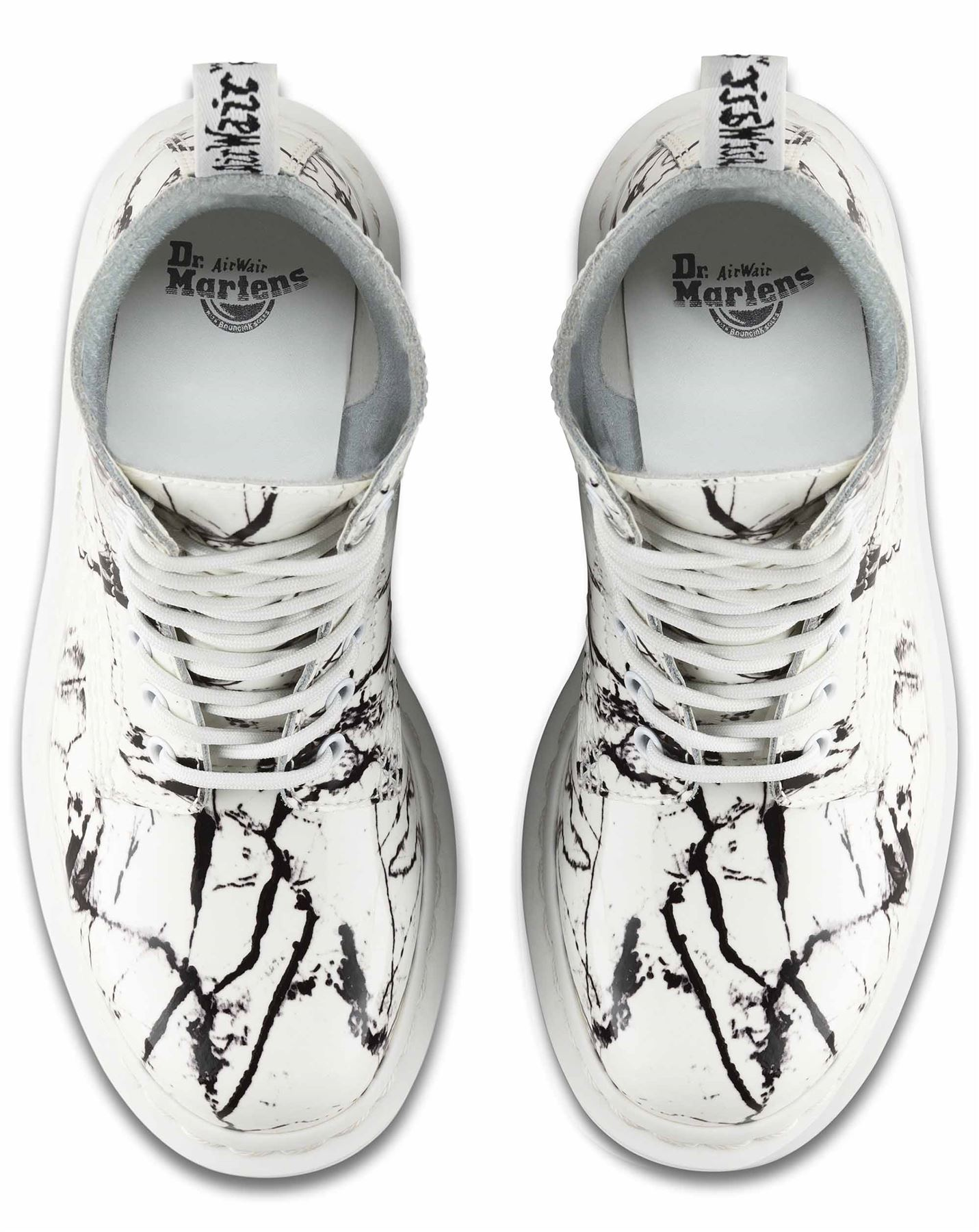 Dr Martens Ladies Pascal 1460 Patent Marble Leather 8 Eye