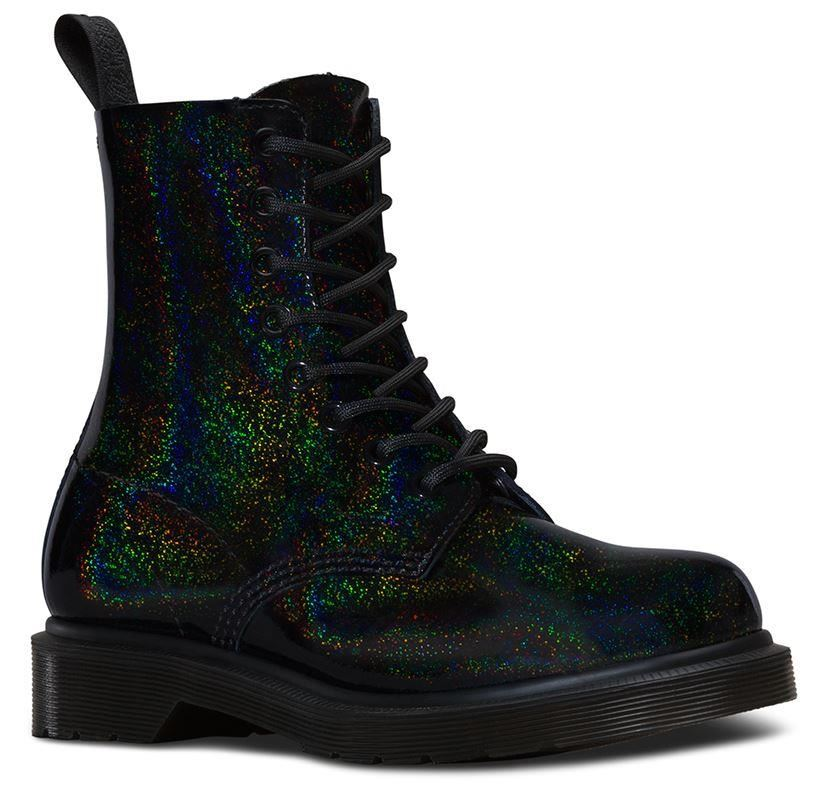 Genuine Dr Martens Womens Pascal Black Petrol Leather BOOTS ...