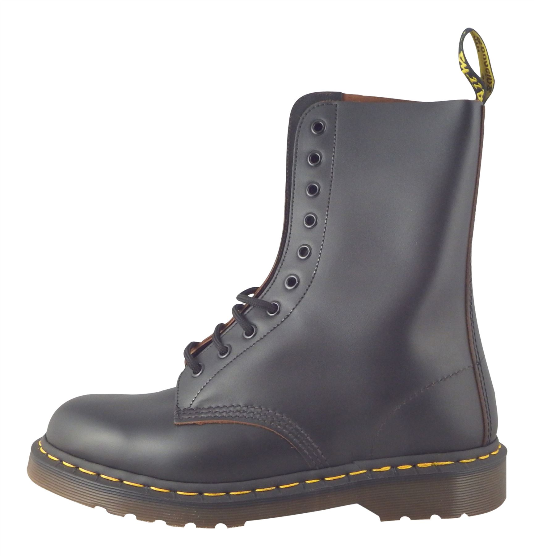 wo zu kaufen bester Wert größter Rabatt Details about Dr Martens 1490 Made In England MIE Black Quilon Leather  Ankle Doc Boots