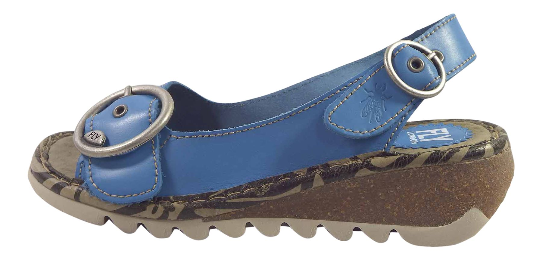 Fly-London-Ladies-TRAM723FLY-Lo-Wedge-Slingback-Summer-Sandals-Leather thumbnail 64