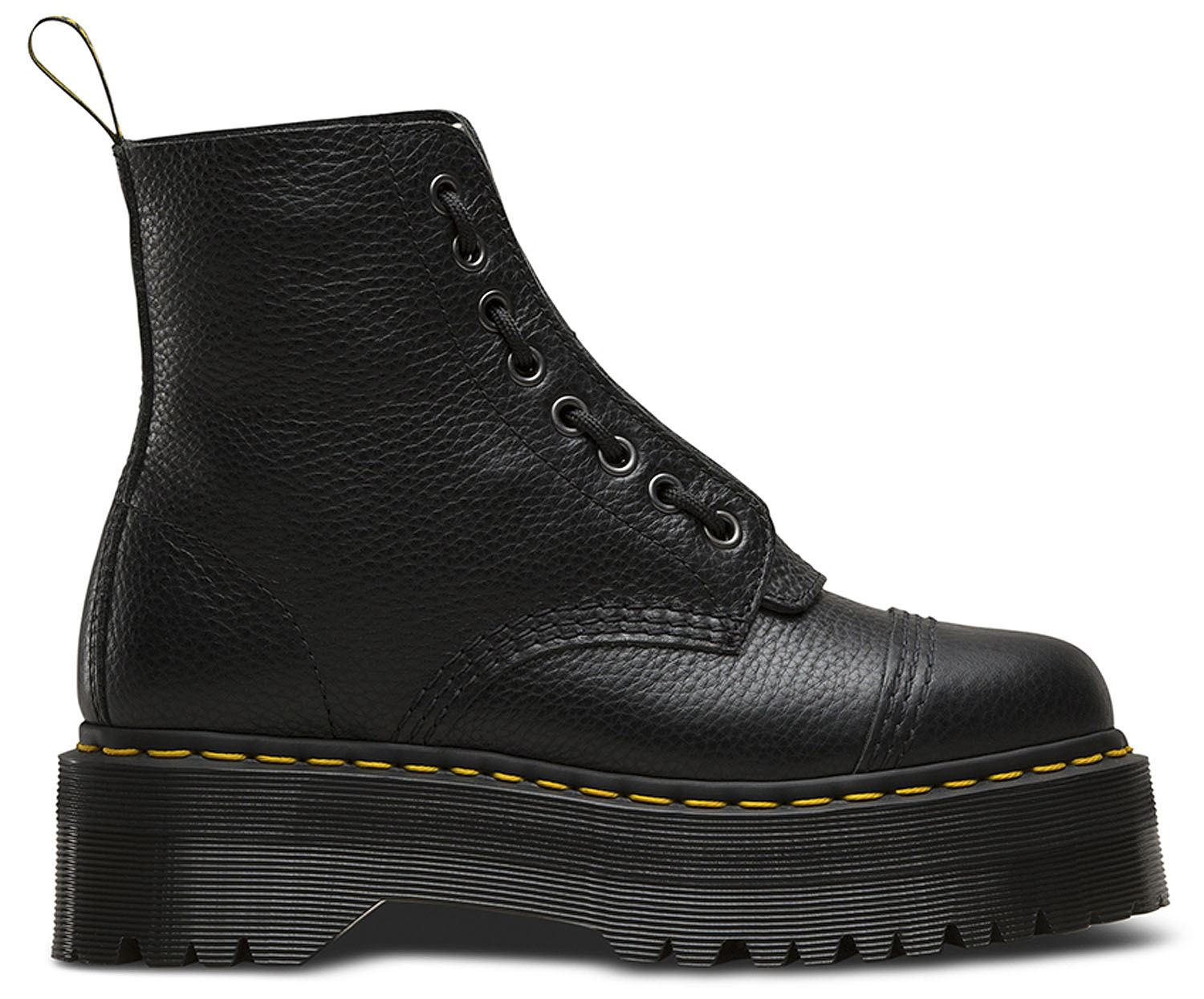 Dr Martens Ladies Sinclair Black Aunt Sally Leather Leather Leather Quad Platform Boots AW18 b85869
