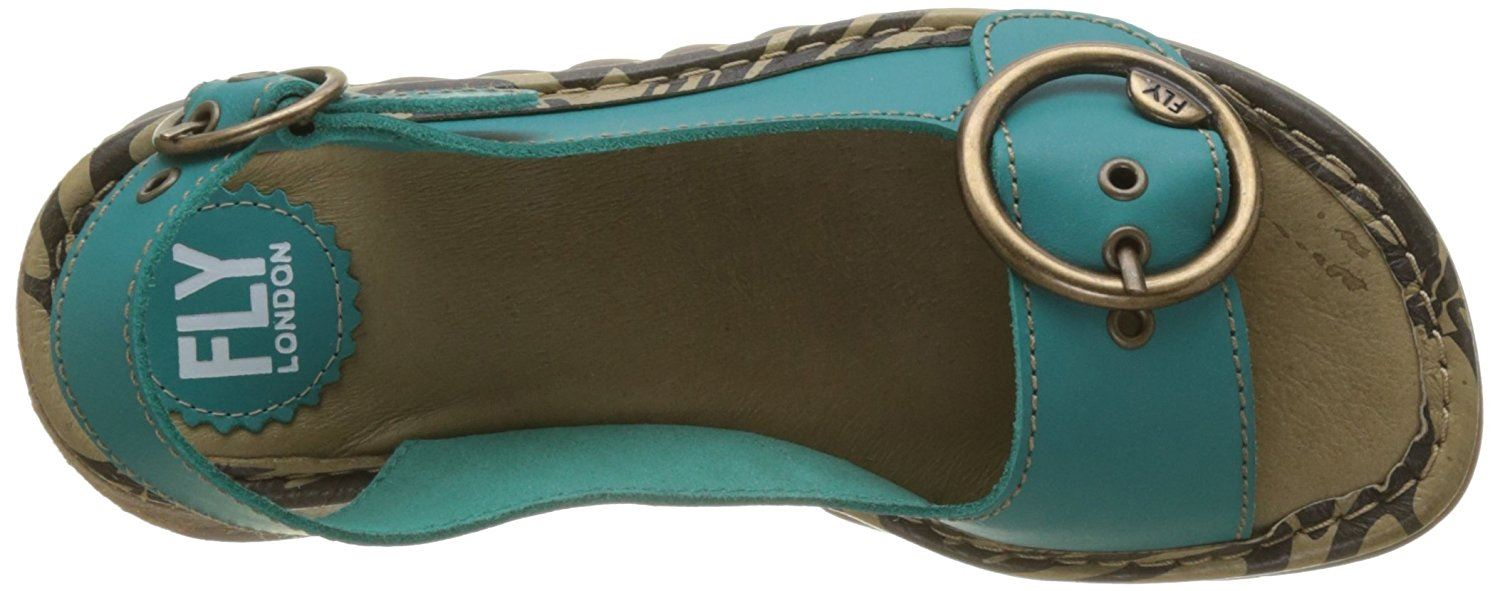 Fly-London-Ladies-TRAM723FLY-Lo-Wedge-Slingback-Summer-Sandals-Leather thumbnail 73