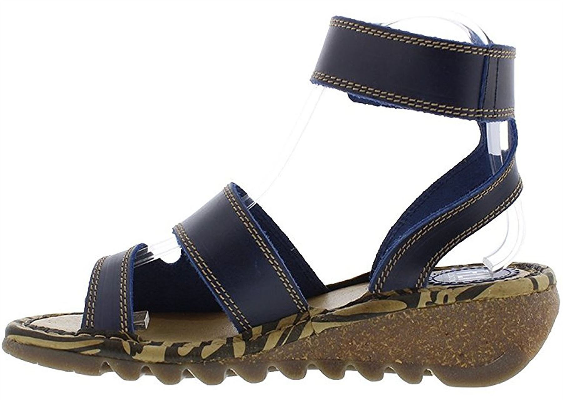 Fly-London-TILY722FLY-Ladies-Strappy-Gladiator-Style-Leather-Wedge-Sandals thumbnail 9