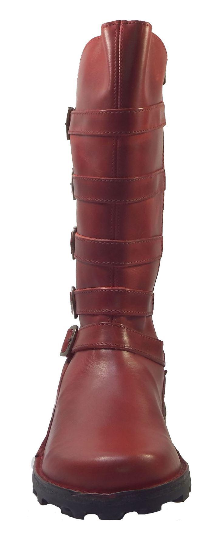 Fly London Meca Rug Leder 5x Strap Mid Mid Mid Calf Biker Style Stiefel Meca896Fly 1f5aa2